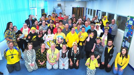 FACET students enjoy a ragne of activites. Seen here on Children In Need day