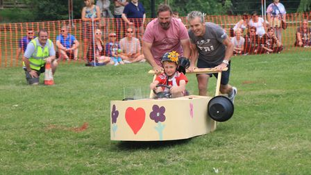 Action from the March Summer Festival first Soap Box Derby in 2017.