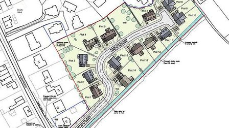 Controversy surrounds plans to build 15 homes in Park Road, Manea. Picture: Fenland District Council