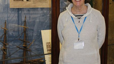 New volunteer Judith Williamson at Wisbech and Fenland Museum - which has just been awarded more tha