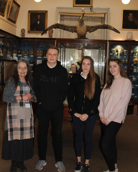 A group of volunteers at Wisbech and Fenland Museum.