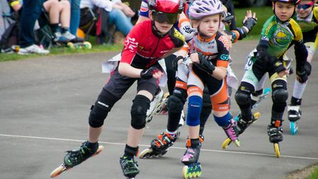 Youngster Taylor Barker who won first place in all three of his category races. Photo: Jo Tidman