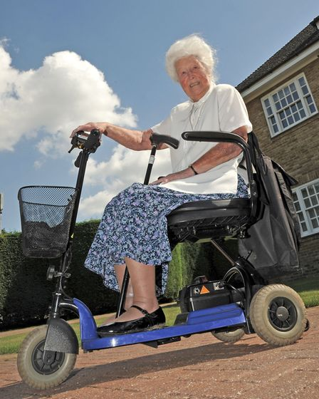 Patsy Brewin returned home at the weekend on wrong mobility scooter.