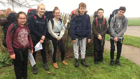 Ely's cadets hung up their uniforms to take part in their first of two expeditions