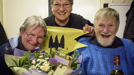 A new Commodore for the Middle Level Watermen's Club! The new Commodore, Mrs Sylvia Keane, (Centre)