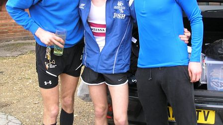 GFDR's James Bosher, Josh Sowman and Dan Reynolds at Felsted