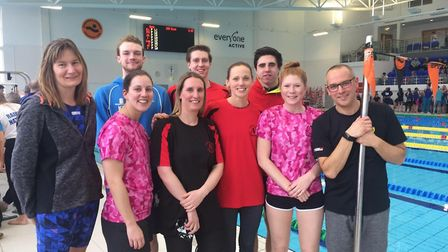 Dunmow Atlantis Swimming Club members at the Essex Masters Championships