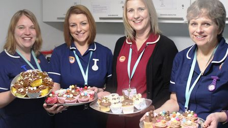 Staff at King's Ely's medical centre staged their own Great Stand Up To Cancer Bake Off.