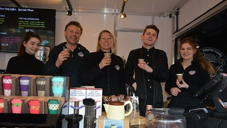 Sliver Oak Coffee Rig is officially opened. Picture: Mike Rouse