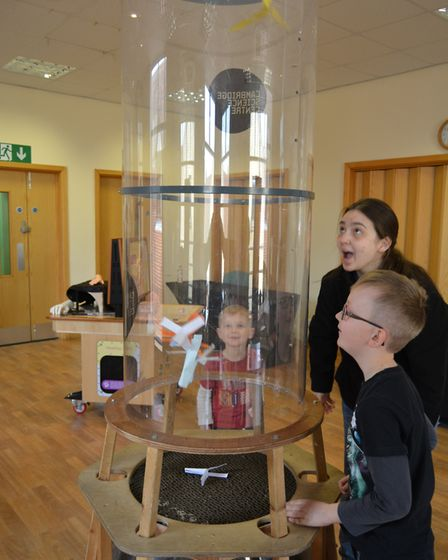 Cosmos Science Roadshow at Ely Library. PHOTO: Mike Rouse.
