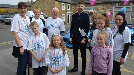 Eight-year-old Ellee Handscomb, of Ely, completed a two-hour walk from Littleport to Ely in aid of A