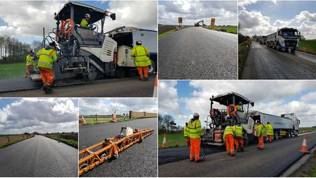 Cambridgeshire County Council released this photo of work coming to an end on a £1m refurbishment of