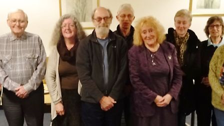 Sue Slack (fifth from right) gave The March Society a talk about the campaign work done by Cambridge