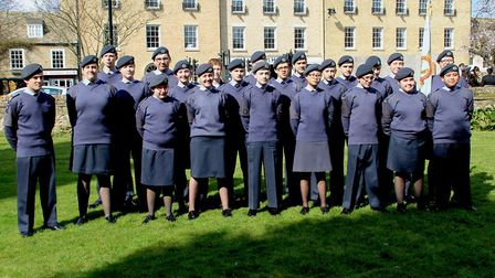 The 1094 City of Ely squadron at the Royal Air Force celebration in Ely on Sunday March 25.