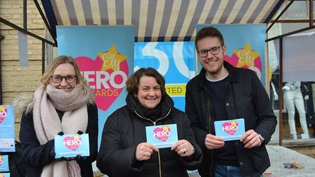 Naomi Sherwood is joined by her helpers in Ely at the market stall. Picture: Mike Rouse