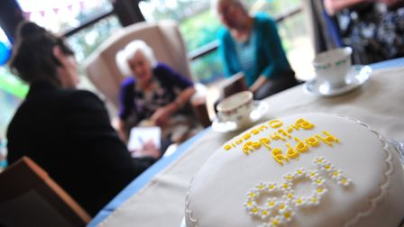 Queenie Page is celebrating her 105th birthday with her daughter Hillary at Askham House care home i