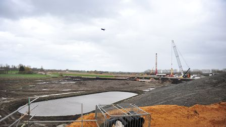 The Ely southern bypass has gone £13 million over-budget and has been delayed to October 2018. PHOTO