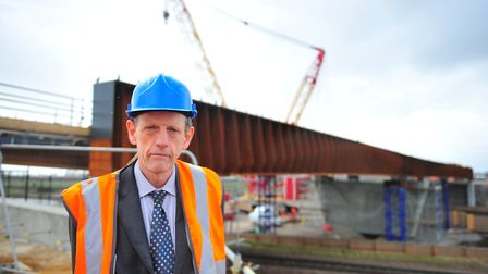 Bob Menzies, council's director of infrastructure and growth. The Ely southern bypass has gone £13 m