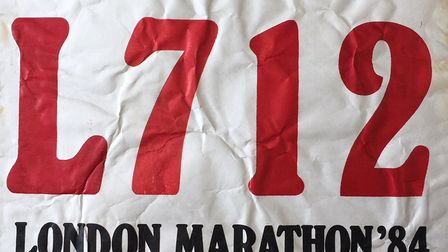 Her number from 1984 - Lesley Wright from March is gearing up to take on the London Marathon for the