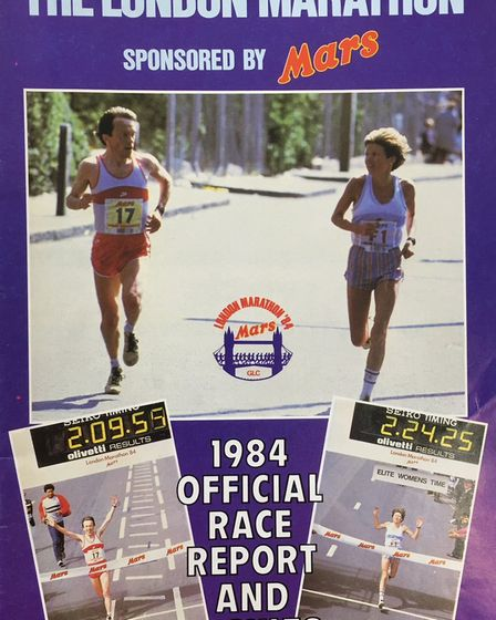 The 1984 book of results - Lesley Wright from March is gearing up to take on the London Marathon for