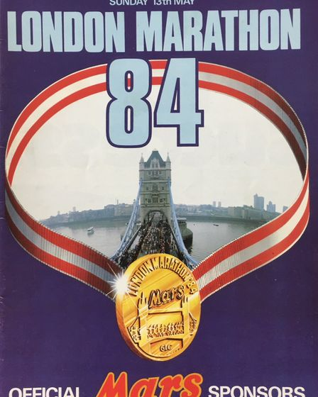The original marathon programme - Lesley Wright from March is gearing up to take on the London Marat
