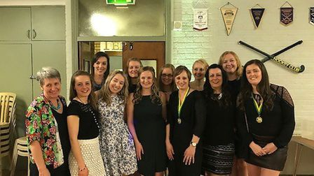ECHC Ladies 1s - The annual end of season Ely City Hockey Club dinner and awards ceremony. PHOTO: Su