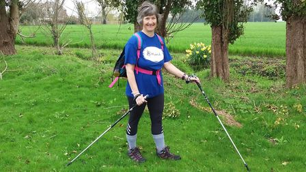 Sally Fawkes in training for MIND hike