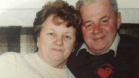 Eddie Canham (right) with his wife Patricia Canham (left). PHOTO: Submitted