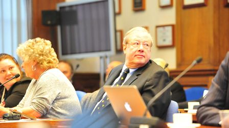 Cllr Simon King at a Conduct Meeting in February, an FOI by the Wisbech Standard has uncovered more