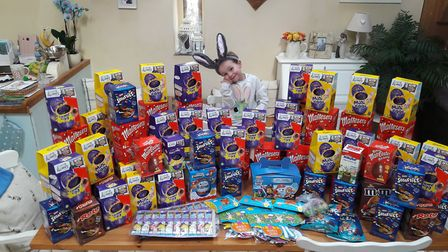 Elizabeth Frazer-Wicks aged 6 from Tydd St Giles decided to raise money to buy Easter eggs for child