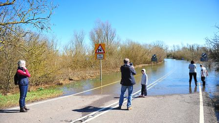The signs are up but people are still giving it a go, Welney's notorious A1101 has flooded again, Ca