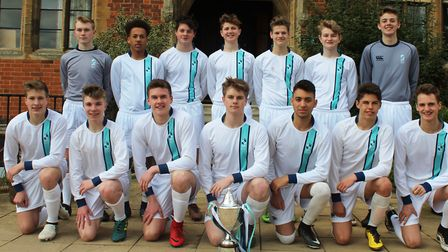 The King's Ely's 1st XI football team.