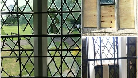 Nine glass windows smashed at Ely Cemetery causing over £17,000 of damage in July 2017.