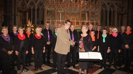 Denmark's Sing n Swing choir visited Ely Cathedral to sing with Kathryn Rowland's Sing choir in Octo