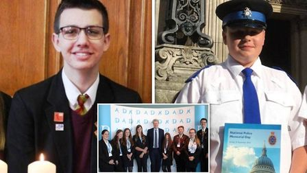 Two students, Billy Griffiths (left) and Charlie Calvert (right), from Fenland have been invited to