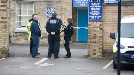 Officers were spotted at St Peters car park toilets on Sunday