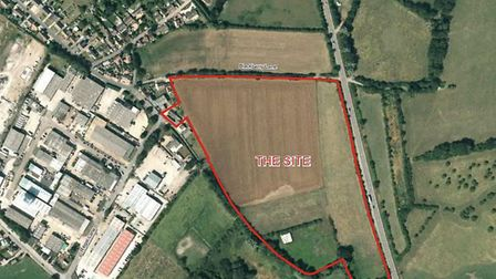 Plans for 160 homes on the site south of Blackberry Lane were withdrawn this week. Picture: East Cam