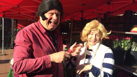 """To celebrate the 40th anniversary of """"Grease"""" Johnny Devine took to March and Ely market to try and"""