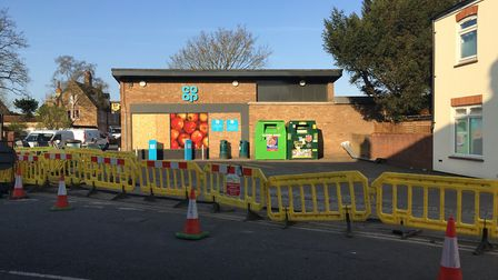 Three arrests have been made following an attempted ram raid on Isleham Co-op. PHOTO: John Elworthy