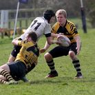 Ely Tigers give their best performance of the season against Holt. Joel Scott-Paul stops a break by