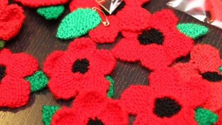 Soham Knit and Knatter group are trying to knit around 5,000 poppies.