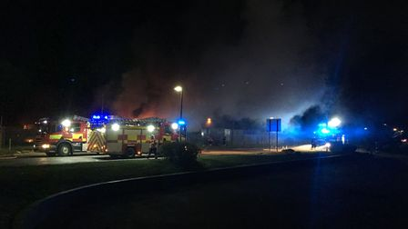A fire has broken out on Hostmoor Avenue in March after an alleged explosion. PHOTO: Harry Rutter
