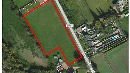 9 homes could be built on this site in Guyhirn - if Fenland Council agrees a confidential viability