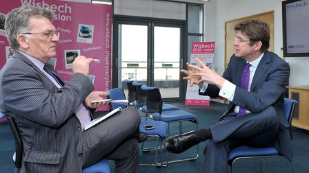 Secretary of State for Communities and Local Government Greg Clark MP on his visit to Wisbech two ye