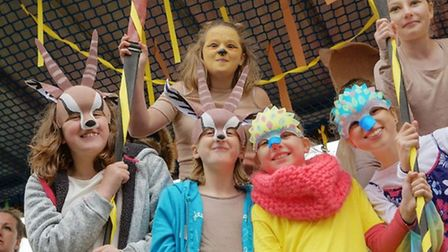 Children on a float during the parade at Soham carnival last year.
