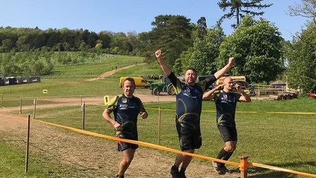 David Green, Pawel Kolasa and Ricky Harnwell took on the Tough Mudder challenge in aid of the Alzhei