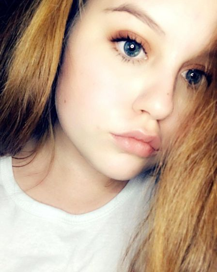 Candice Hodkinson, aged 17, says an accident on the A47 involving a HGV lorry and the car she was le