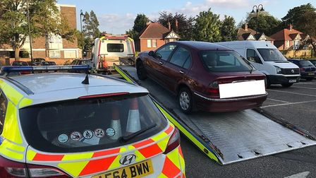 Police took thiis car away from a take-away driver after they discovered he was not insured properly