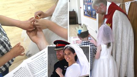Cavalry Primary School in March has held their own Royal Wedding ceremony fit for the Duke and Duche