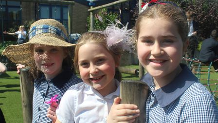 Children's from King's Ely Acremont and Junior celebrated the Royal Wedding in style